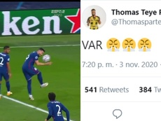 Thomas slammed the VAR after Atletico conceded a penalty. Twitter/ThomasPartey22