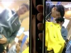 El Ibiza echó a los recogepelotas por un vídeo racista. Twitter/12christianjoel