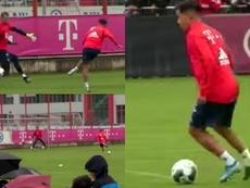 O primeiro dia de Coutinho do Bayern. Captura