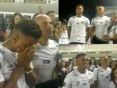 Rodrygo despediu-se do Santos em lágrimas. SantosFC