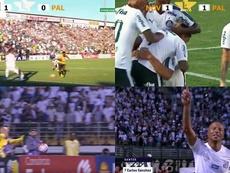 Palmeiras no pasó del empate, mientras que Santos ganó 2-0. Captura
