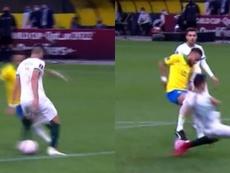 Neymar no marcó el gol del año y eso que deleitó con un túnel y una ruleta. Captura