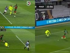 El surrealista gol del Portimonense. Capturariza
