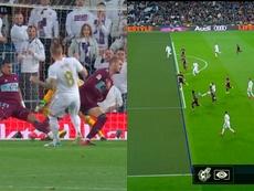 Du but annulé à Ramos à l'égalisation de Kroos du gauche. Capture/Movistar