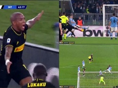 Ashley Young fait taire le stade Olympique avec son premier but pour l'Inter. Captures