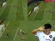 Golazo olímpico en Paraguay. Captura/TigoSports