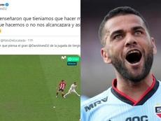 Dani Alves incendió las redes tras el pisotón de Ramos. DaniAlvesF2/EFE