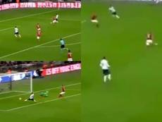 Inglaterra anotó el primero gracias a su tridente. Captura