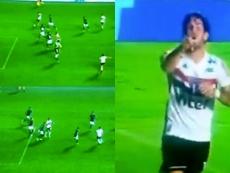 Alexandre Pato marcó su primer gol esta temporada en su vuelta a Brasil. Captura