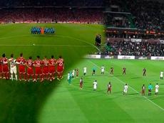 Hubo minuto de silencio en el Bayern-Bayer y en el Metz-Mónaco. Twitter/ESPN/FCMetz