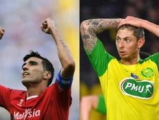 Nantes homenajeó a Reyes y Sala. Collage/EFE