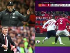 Klopp was very critical of the VAR after Liverpool's draw with Man Utd. Collage/AFP/DAZN