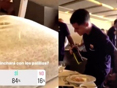 Piqué le hizo 'la de los palillos'. Instagram/GerardPiqué