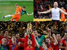 Los 10 detalles que habías olvidado de la final del Mundial de 2010. Collage/EFE