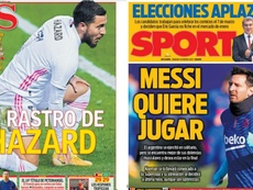 As capas da imprensa esportiva. AS/Sport