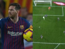 Messi struck before Ter Stegen's mistake. Capturas
