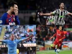 A UEFA divulgou a lista dos 50 candidatos para formar a escalação dos melhores de 2019. AFP