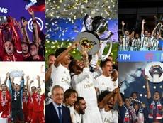 Los campeones de una temporada marcada por el COVID-19. AFP