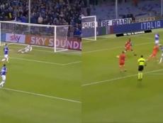 La Sampdoria empató con una obra de arte de Linetty. Captura/beINSports