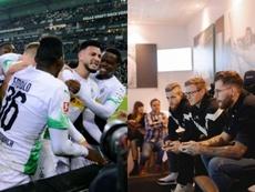 El 'Gladbach, rey en el césped y en los eSports. AFP/Borussia_esport