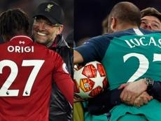 Lucas Moura et Divock Origi ont mis le 27 dans l'histoire. EFE/AFP