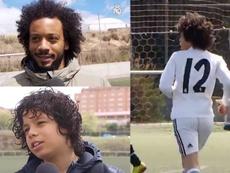Marcelo, muy orgulloso del primer título de su hijo. RealMadridTV