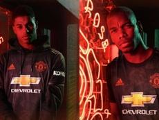 Troisième maillot de United, avec Pogba. Collage/ManUTD