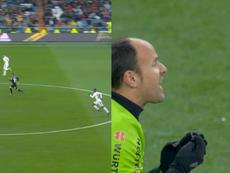 El Bernabéu clamó contra Mateu Lahoz. Collage/LaLiga