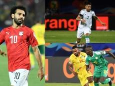 Les trois candidatures au Ballon d'Or africain. Collage/EFE/AFP