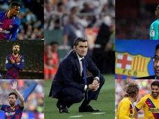 Los señalados en la crisis del Barça. Collage/EFE/AFP