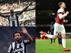 Los 'cracks' que llegaron gratis a la Juventus. AFP/EFE