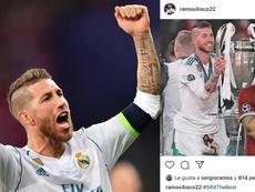 Ramos recuerda a Lovren su palmarés. Instagram