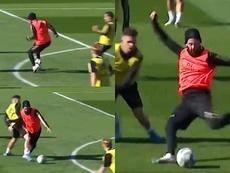 Isco hizo un golazo en el entrenamiento del Real Madrid. Captura/realmadrid