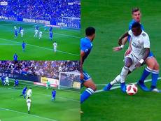 Festival blanco en el Bernabéu. Collage/beINSports