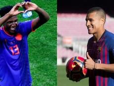 Jeison Murillo es más técnico que Yerry Mina. AFP/EFE