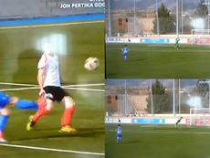 El gol 'tonto' del año. Collage/Zuzenean