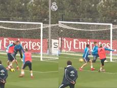 Benzema a réalisé l'entraînement. Collage/RealMadrid