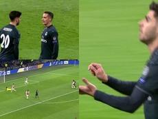 Le but d'Asensio. Capture/Movistar