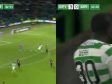Weah marque déjà avec son nouveau club. Collage/CelticTV
