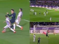 Odriozola fue objeto de penalti y Karim firmó el 1-2. Capturas/MovistarPartidazo