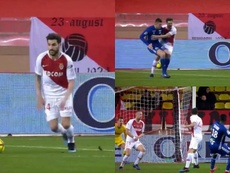 Regalo de Fàbregas en el tercer gol del Estrasburgo. Captura/beINSports