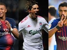 Mbappé, Torres, Suarez. AFP