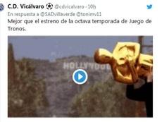 El Vicálvaro y el Villaverde se enzarzaron en Twitter.  Twitter/CDVicalvaro