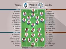 Les compos officielles du match de Ligue des Champions entre l'Atalanta et Manchester City. BeSoccer