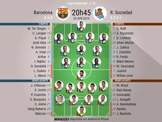 Suivez le direct du match Barcelone-Real Sociedad. EFE
