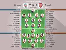 Suivez le direct de Liverpool-Arsenal. EFE