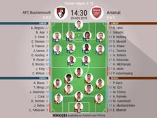 Formazioni titolari Bournemouth-Arsenal. BeSoccer
