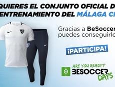 Consigue con BeSoccer un conjunto de entrenamiento del Málaga CF. BeSoccer