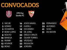 En-Nesyri y Suso entran en su primera lista europea. SevillaFC