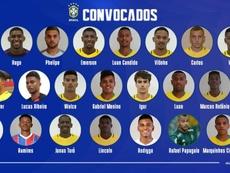 Vinicius, fuera de la lista para el Sudamericano Sub 20. CBF